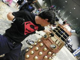 Crossover: Superboy vs dalek by deity1248