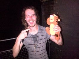 Aaron Buchanan and Tigger. by Metal-Rock-Punk30
