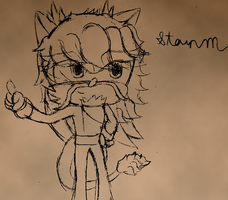 Heatail Sketch -PS + GIMP ver- by StormerStatic
