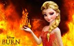Fire Elsa: Burn by wolfskyla