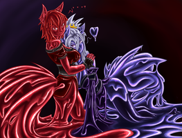 Teru and Naryn by SpaceCrater