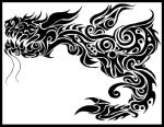 Tribal Dragon by Morbidmic