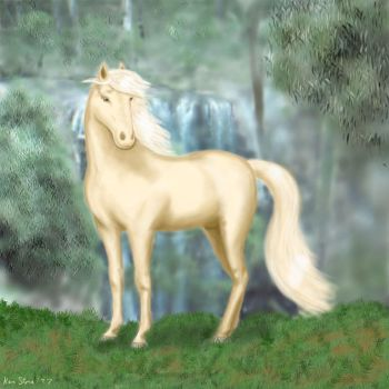Silver Brumby by otherunicorn