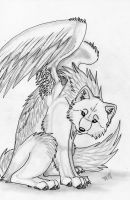 the angle wolf by Suenta-DeathGod