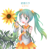 Miku Sunflower by Lumiscene