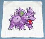Nidorino Cross Stitch by Jyxxie