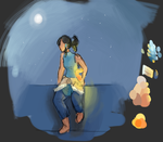 korra coloring practice by CaptainMatryoshka