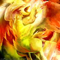 Reshiram used Fusion Flare by StephanieGrafe