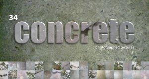 34 concrete textures by scorpy-roy