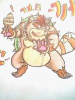 Racoon Tail Bowser by AZURA-FANG