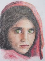 afghan girl by turiya