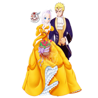 Laxus and Mirajane Crossover by enchantic-erza