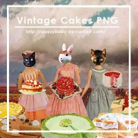 Vintage Cake AD's PNG Pack by qeezybaby