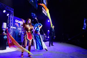 ESL ONE NEW YORK Lina And Crystal Maiden by Arorea