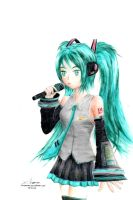 Singing Miku by Anomonny