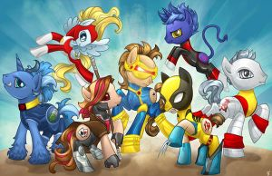 MLP X-Men by Kimballgray