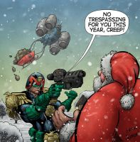 Judge Dredd Meets Santa by GibsonQuarter27
