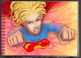 Supergirl Color Sketch by EderLunaC