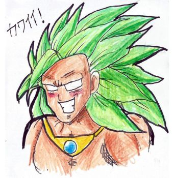 Dragon Ball - Broly SSJ3 (Pencil coulored) by EV133