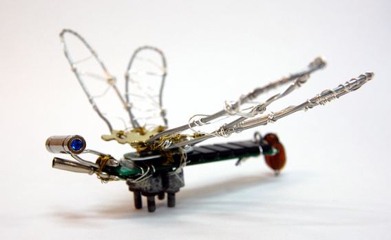 Steampunk Dragonfly. by a-small-piece-of-ham