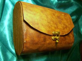 Wood-sided Leather Satchel by MirabellaTook