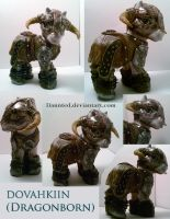 Dovahkiin Dragonborn Ooak Custom by daunted