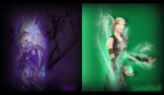 Commission: Teni and Landriah Banner by The-Serene-Mage