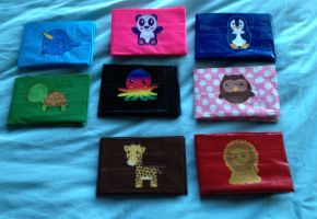 Animal Duct Tape Wallets by LishaChan