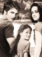 Edward, Bella and Renesmee Cullen by oXGeRRyBeRRyXo