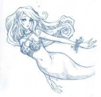 Mermaid Neave sketch by sudoru