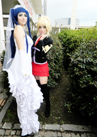 Umineko no naku koro ni cosplay Erika and Jessica by AliceNero