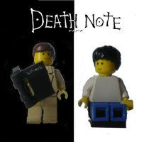 LEGO Death Note- Kira and L by HyrAyl