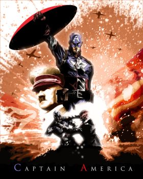 Captain America by ninjaink