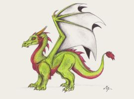 Green dragon by ZikiWolf