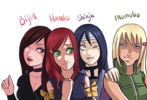 Konoha girls by Myttchi