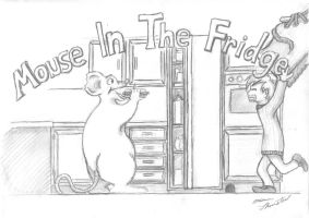 mouse in the fridge by KasZeroo