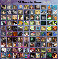 100 Character Meme by Arkay9