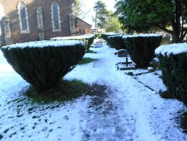 snow, churchyard  oct 29th 19 by dark-dragon-stock