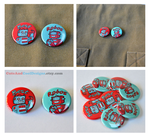 Best Robots 2 Pinback Buttons by artshell
