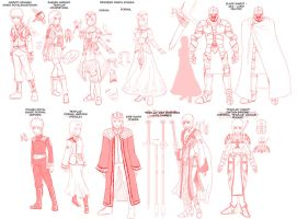 Princess Resue- character design roughs 01 by mattwilson83