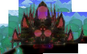Terraria:  1.2 Spider Palace Daytime by Sherio88