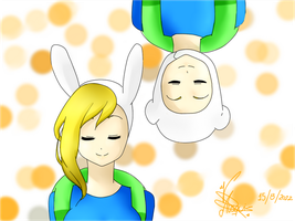 Finn and Fionna by Vika01