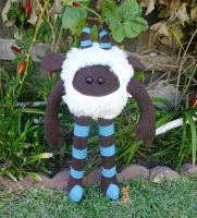 BlueWhiteBrown Huggle by quirkandbramble