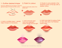 Tutorial - Semi-realistic female lips by Velsinte