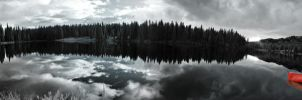 Infrared Lake Panorama by GambllingYouth