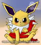 Christmas Jolteon by Veemonsito