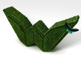 w nature green texture 3d by pedroqn