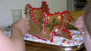 Gingerbread Sled in the making by Tischen