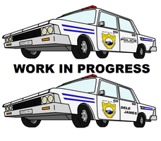 WIP - Dolphinport Police Car by Mike-Dragon