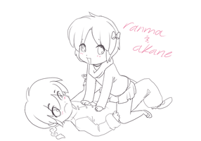 Akane and Ranma Chibi by thekitty